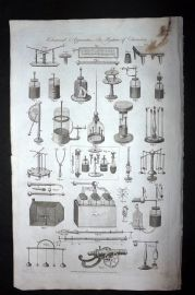 Hall 1789 Antique Print. Electrical Apparatus, Electricity